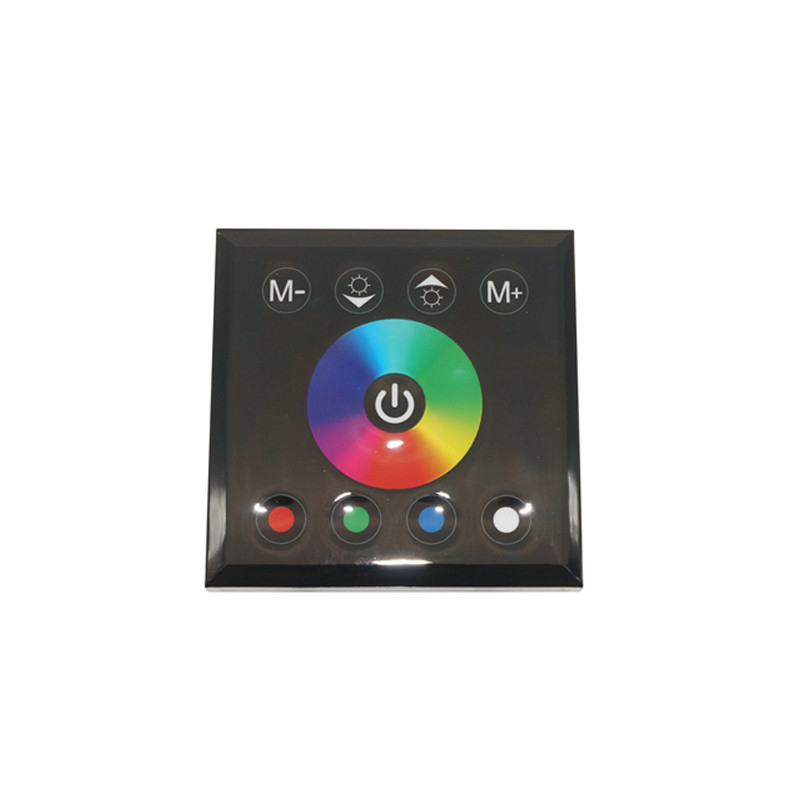 Image 5 - DC12V 24V single color/RGB/RGBW wall mounted Touch Panel Controller glass panel dimmer switch Controller for LED RGB Strips lamp-in RGB Controlers from Lights & Lighting