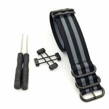 Black&Grey For Suunto Core For Note G10 Military Zulu Heavy Duty Nylon Diver Watch Strap Band Stripe Bracelet + 1 Set Adapters suunto d6i novo black zulu