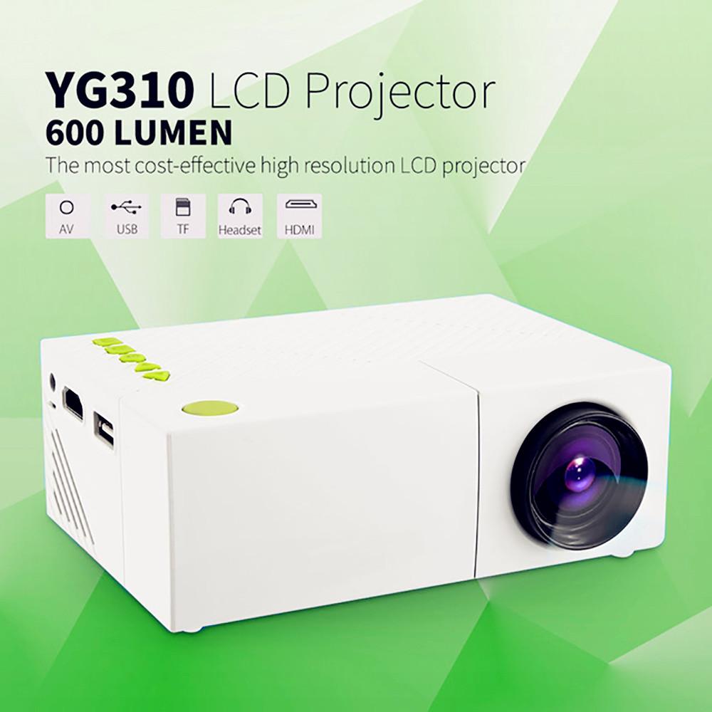 Prix pour Mini YG310 LCD Projecteur Home Cinéma Théâtre PC Portable CVBS USB SD HDMI 400 Lumens 1080 P LED home Cinéma TV Projecteur PK UC46