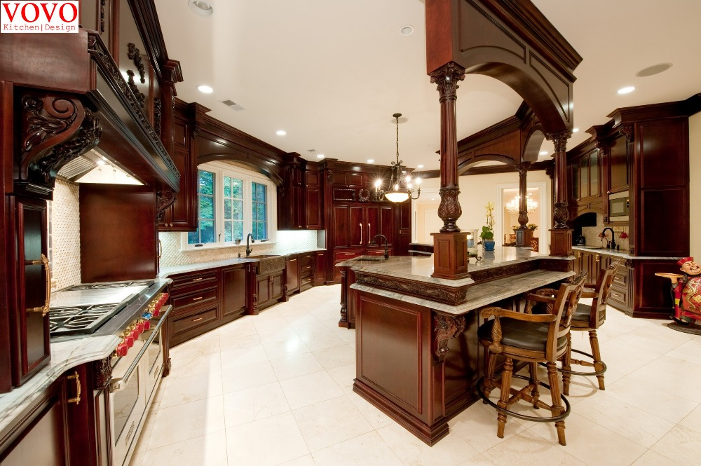 Elegant Cherry Wood Kitchen Furniture