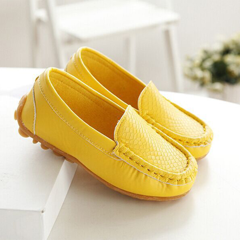 Children shoes 2016 spring and autumn male girls shoes candy color bag cow muscle slip-resistant outsole Moccasins child single