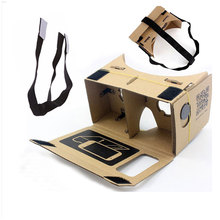 Free shipping Max 6 inch top quality Google Cardboard 2.0 VR glasses oculus rift VR smart 3D glasses+headbelt