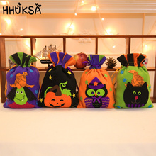 1Pc Halloween Decoration Candy Bag Pumpkin Witch Owl Black Cat Children Gift Party Home Decor Accessories