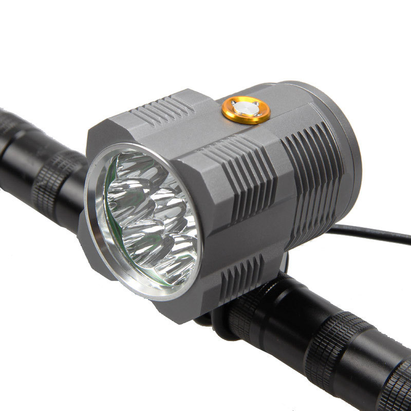 Waterproof Bike Front Head Lamp 13000Lumen LED Bicycle Light 8x XM-L T6 Bike Headlight 3 Modes Torch Battery Charger Set wheel up bike head light cycling bicycle led light waterproof bell head wheel multifunction mtb lights lamp headlight m3014