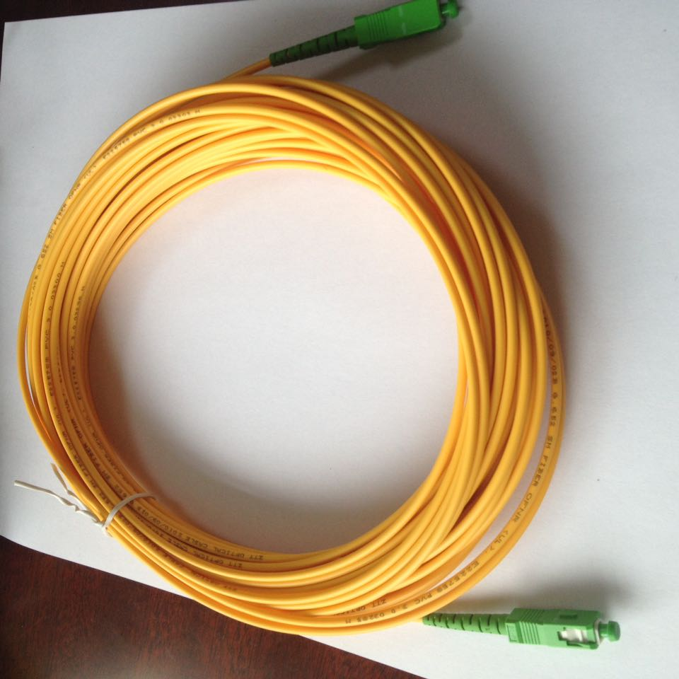 Free Shipping Cable Branchement Fibre Optique SC APC 30m Fiber Optic Jumper SC/APC-SC/APC Fiber Optic Patch Cord