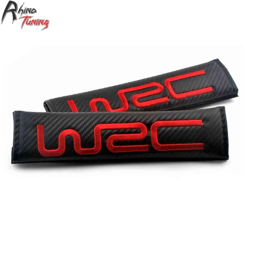 Rhino Tuning 244mm 1Pair WRC Car Seat Belt Shoulder Pads Cover Auto Styling For 206 EvolutionV XsaraWRC ImprezaWRC RS200 161