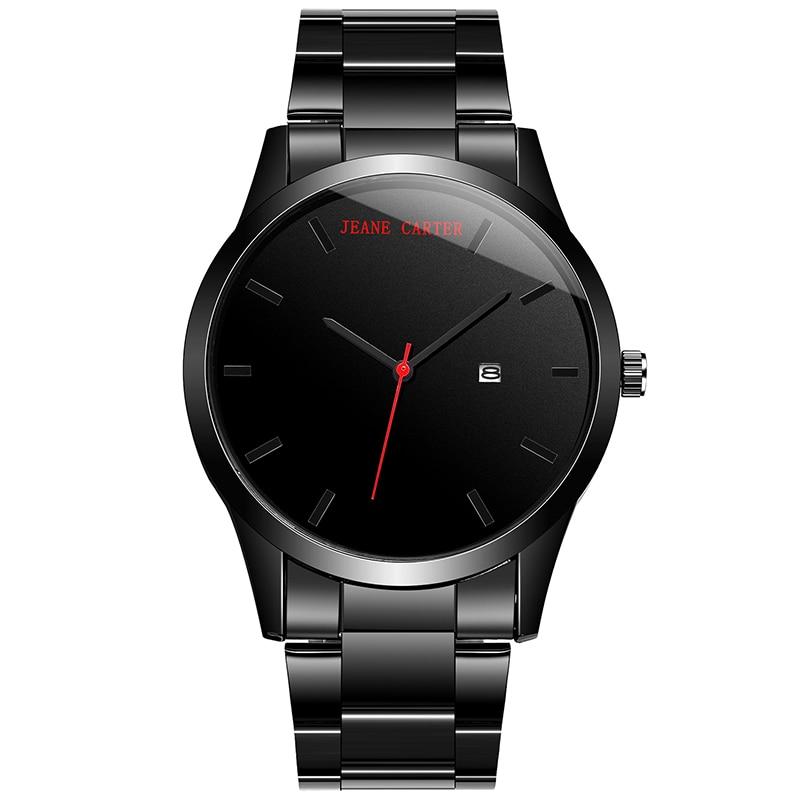 Large Dial Men Watch Top Luxury Brand Quartz Sport Watch Black Full Steel Military Colck Male Calendar Wristwatch relogio saati