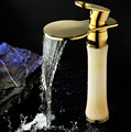 Bathroom jade bowlder waterfall faucet basin sink tap bathroom waterfall faucets sink tap SD-H-002A