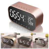 Wireless Bluetooth Speaker 1 Pcs Multifunction Music Player Wireless LED Alarm Clock Home Decor Support Aux TF USB