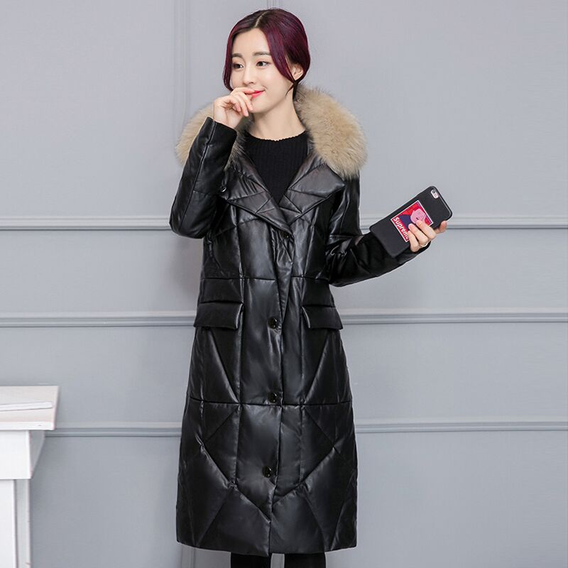 New Winter Womens Down Jacket High Imitation Fur Leather 3xl Size Overcoats Maternity Clothing Pregnancy Jacket Warm Clothing Mother & Kids