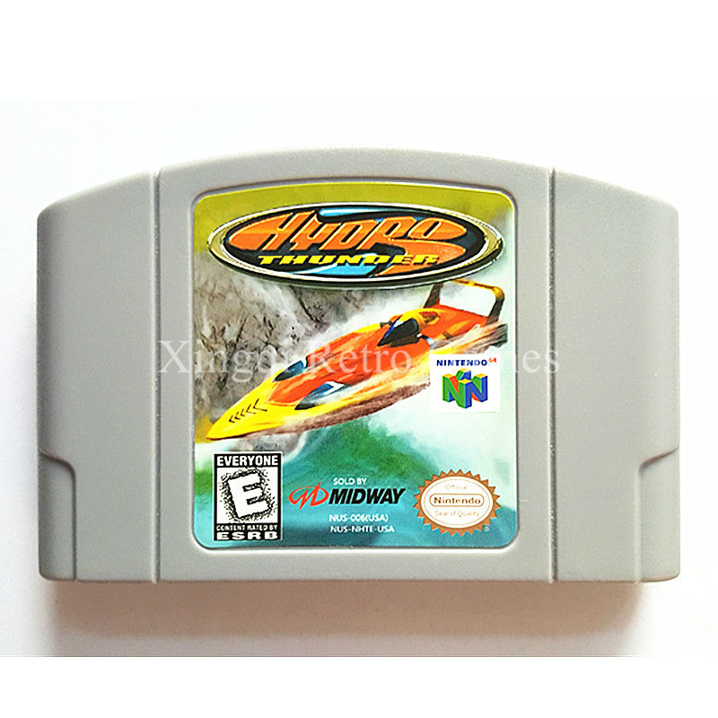 Nintendo N64 Game Hydro Thunder Video Game Cartridge Console Card English Language US Version