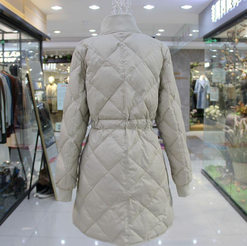 Down Slim White Coats