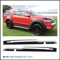 Envío gratis 2 UNID side stripe gráfico pegatina de vinilo pegatinas para Ford Ranger 2014 nuevo diseño ranger