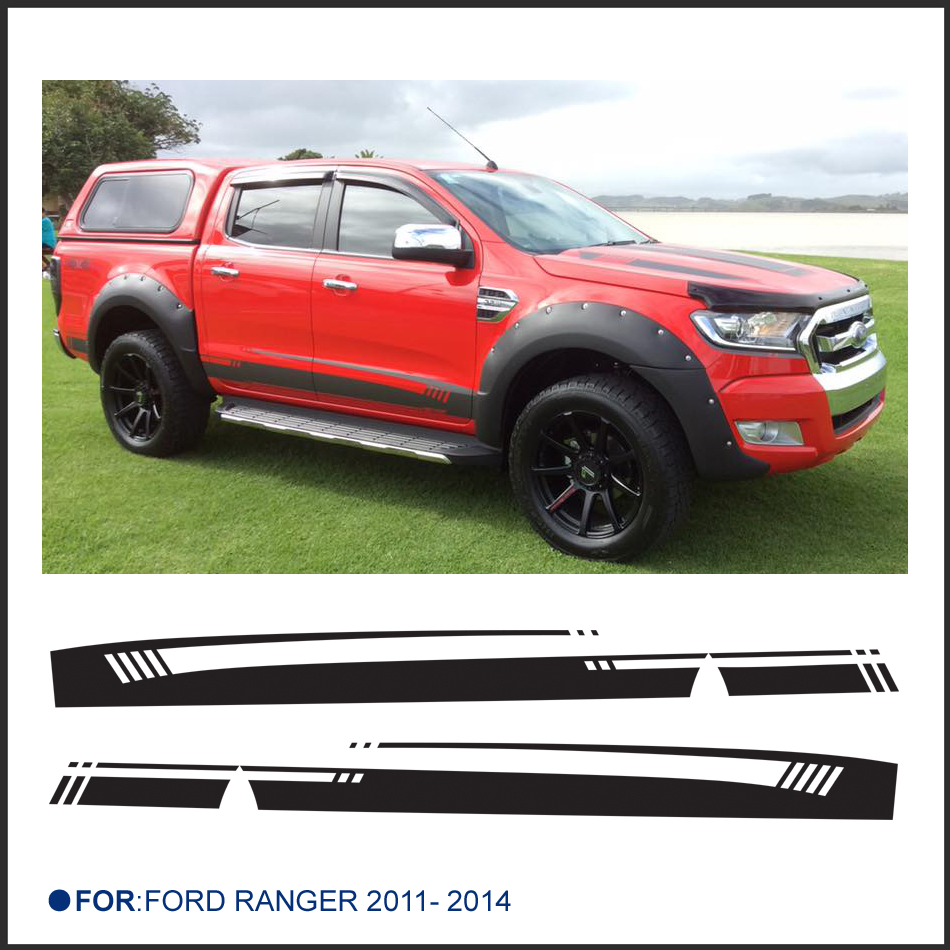 Bumper sticker maker free online - Free Shipping 2 Pc Side Stripe Graphic Vinyl Sticker For Ford Ranger 2014 New Design Ranger