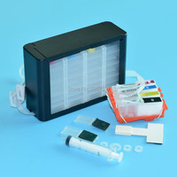 Printer bulk ciss ink system for hp 178 4colors with auto reset chip for hp photosmart 5510 5515 6510 7510 B210 B209 B110 B109