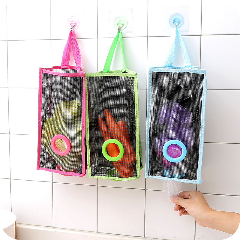 2018 New Arrival Breathable Nylon Garbage Rubbish Bags Hanging Kitchen Packing Bag Trash Can Household Cleaning Tools S L F2454