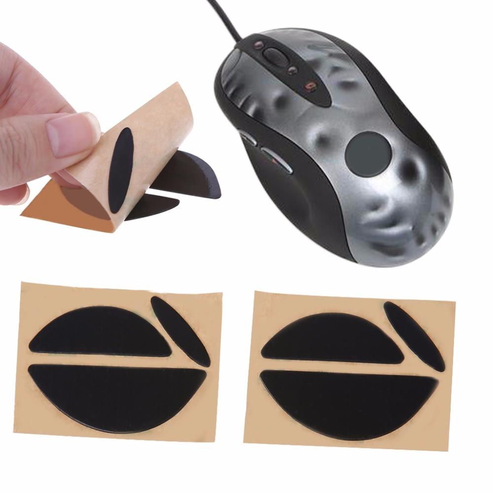 2 Sets/pack Black 0.6mm Mouse Feet Mice Skates For Logitech MX518 /G400 /G400S Mouse Good Quality C26