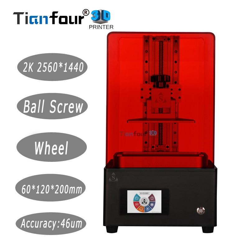 Tianfour Новый x-cure V3 свет отверждения УФ-SLA/ЖК-дисплей/DLP 3D принтер 2 К с высокой точностью jewelry стоматологии точность части