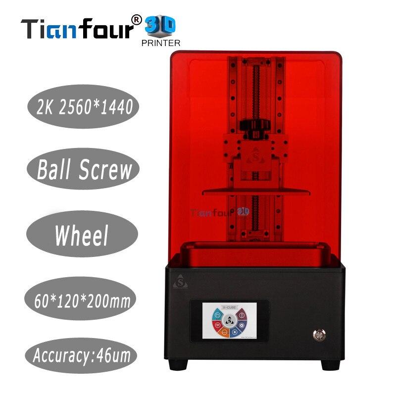 Tianfour Новый x-cure V3 свет отверждения УФ-SLA/ЖК-дисплей/DLP 3D принтер 2 k с высокой точностью jewelry стоматологии точность части
