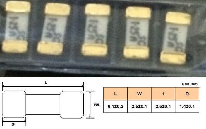 ᗐ1808 15A предохранитель Позолоченные Размеры 6.1*2.5 мм ...