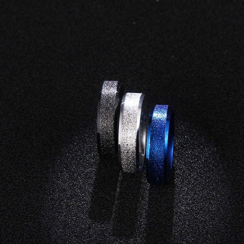DOTIFI  316L Stainless Steel Rings For Women Black/Blue/Silver Color Engagement Wedding Ring Jewelry