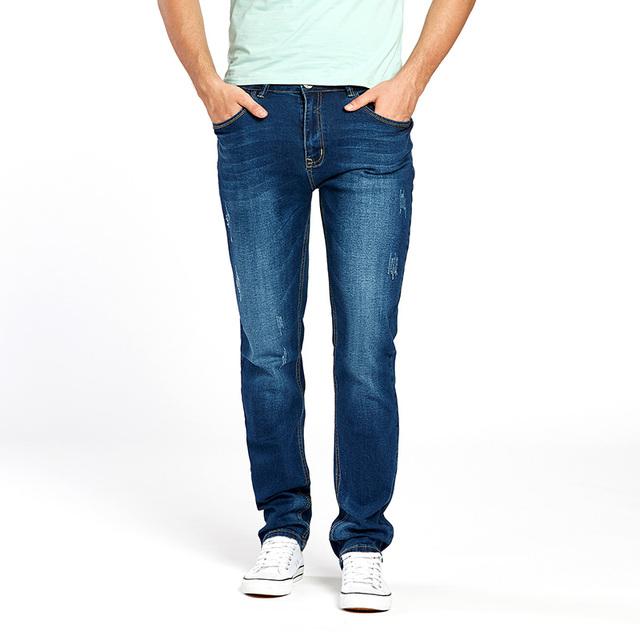 Drizzte Mens Jeans New Fashion Designer Plus Size 33 34 35 36 38 40 42 44 Men's Stretch Slim Denim Jeans Trousers Pants