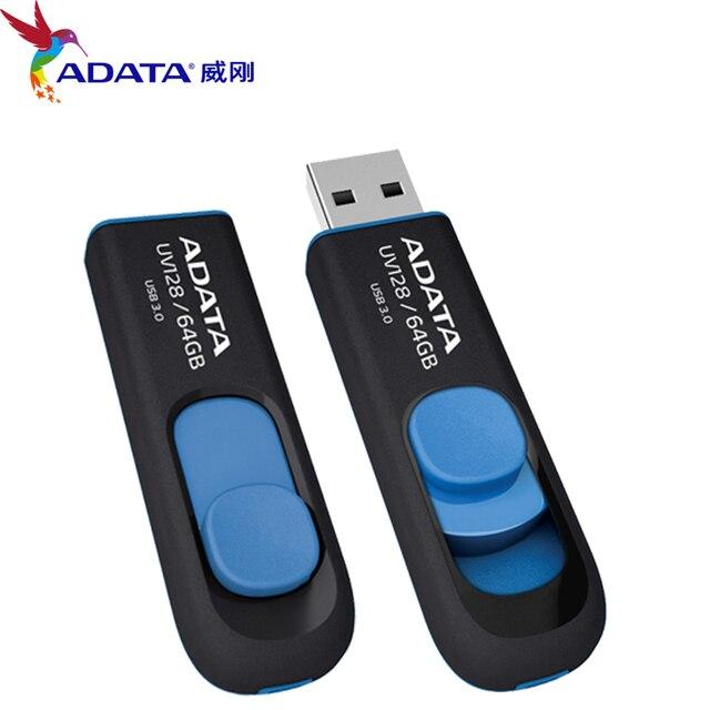 Новый Высокоскоростной ADATA UV128 USB 3.0 Flash Drive Реальная Емкость 16 ГБ 32 ГБ 64 ГБ Memory Stick USB Pen Drive Disk Мини U Диска