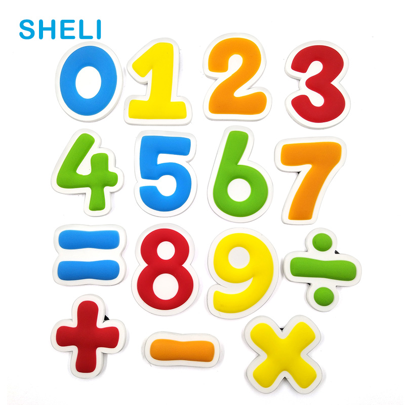 Number Sign fridge magnets Cartoon Math Silicon animal whiteboard sticker Refrigerator Magnets Kids Message post Home Decoration