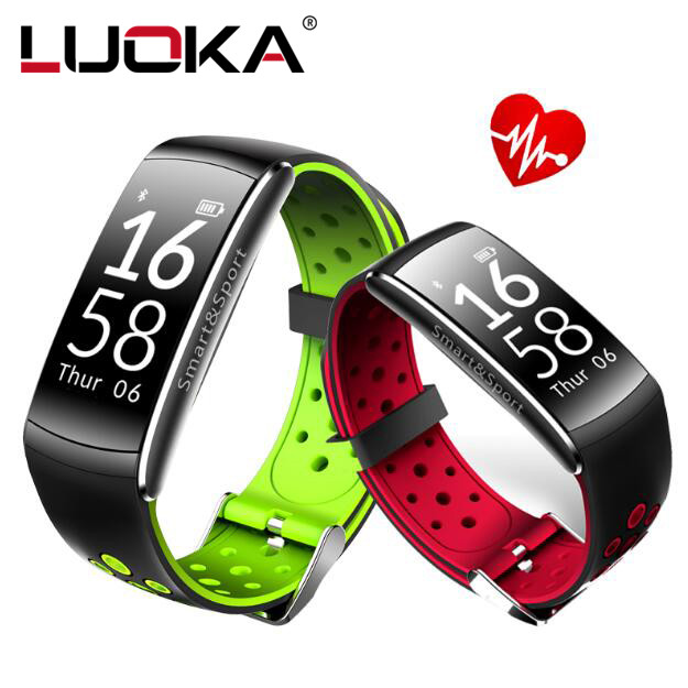 LUOKA Smart band IP68 waterproof Smart Wristband Heart rate Smartband Fitness tracker Smart Bracelet Wearable devices watch PKS2