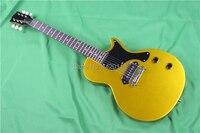 Gleeson Instrument. Hot sale LP studio electric guitar. goldtop lp junior .high quality mahogany guitar. P90 pickups