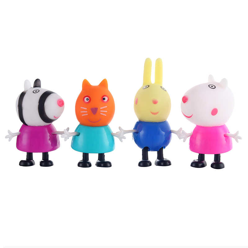 Peppa Pig Little Pink Pig Girl George Mom And Dad And Friends Action Figure Original Pelucia Anime Toy Child Birthday Christma