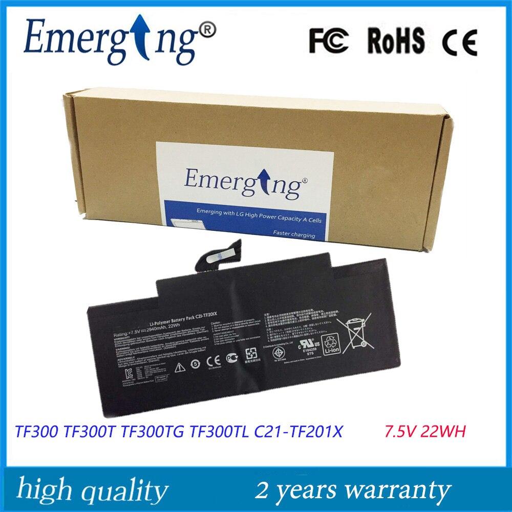 7.5 V 22WH D'origine Tablet Batterie pour ASUS TF300 TF300T TF300TG TF300TL C21-TF201X