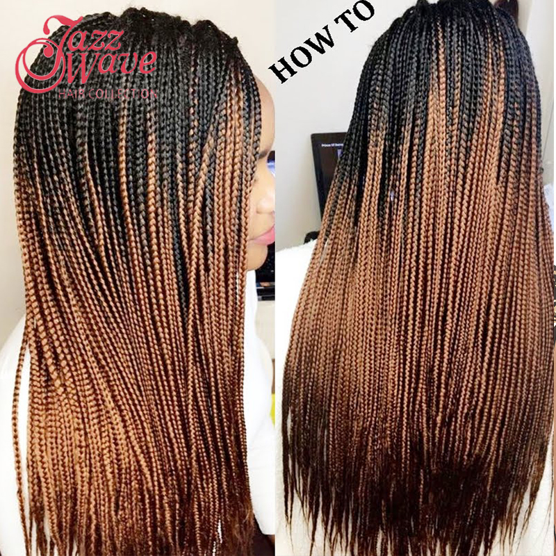 Crochet Hair Aliexpress : ... Hair Crochet Box Braids Ombre Kanekalon Braiding hair-in Hair Weaves
