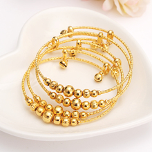 Bracelet Bangle Anklets Jewelry Dubai-India Kids Hand-Chain Charm Gold Women for Beads