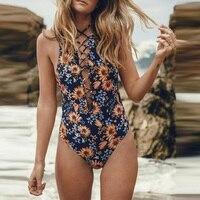 2017 Sexy One Piece Swimsuit Women Swimwear Bodysuit Bathing Suit Vintage Beach Wear Bandage Monokini Swimsuit