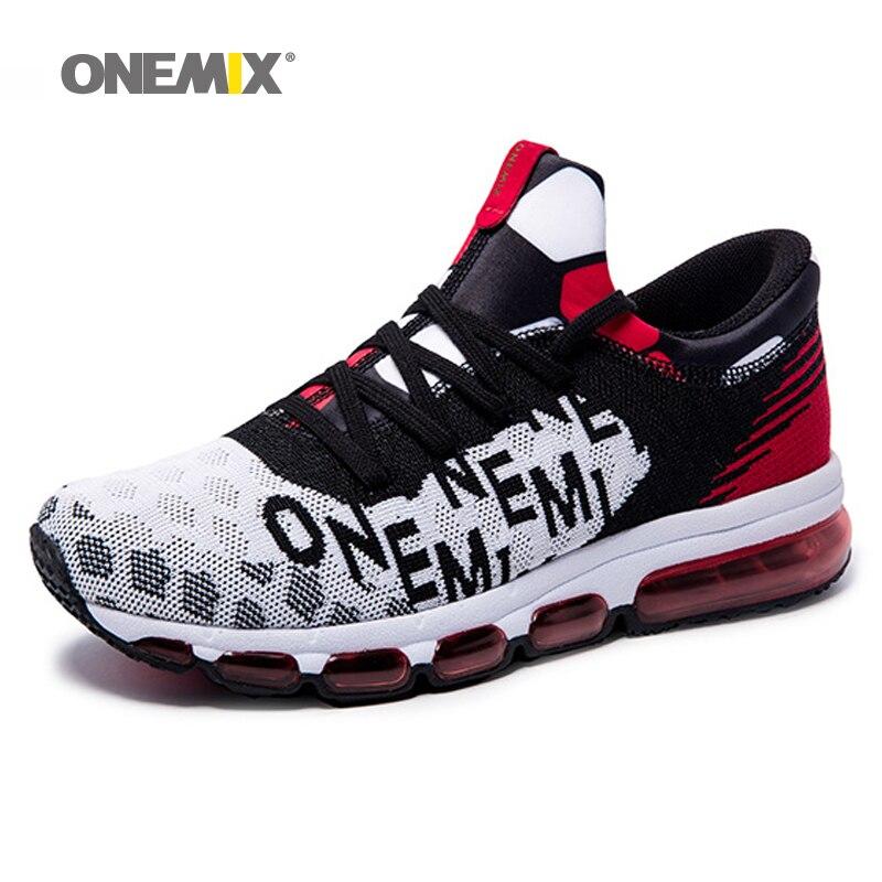 ONEMIX 2017 мужская Воздушной Подушке Кроссовки для женщин Спортивное Открытый Спорт Кроссовки Zapatos Де Hombre Orignial размер 36-46