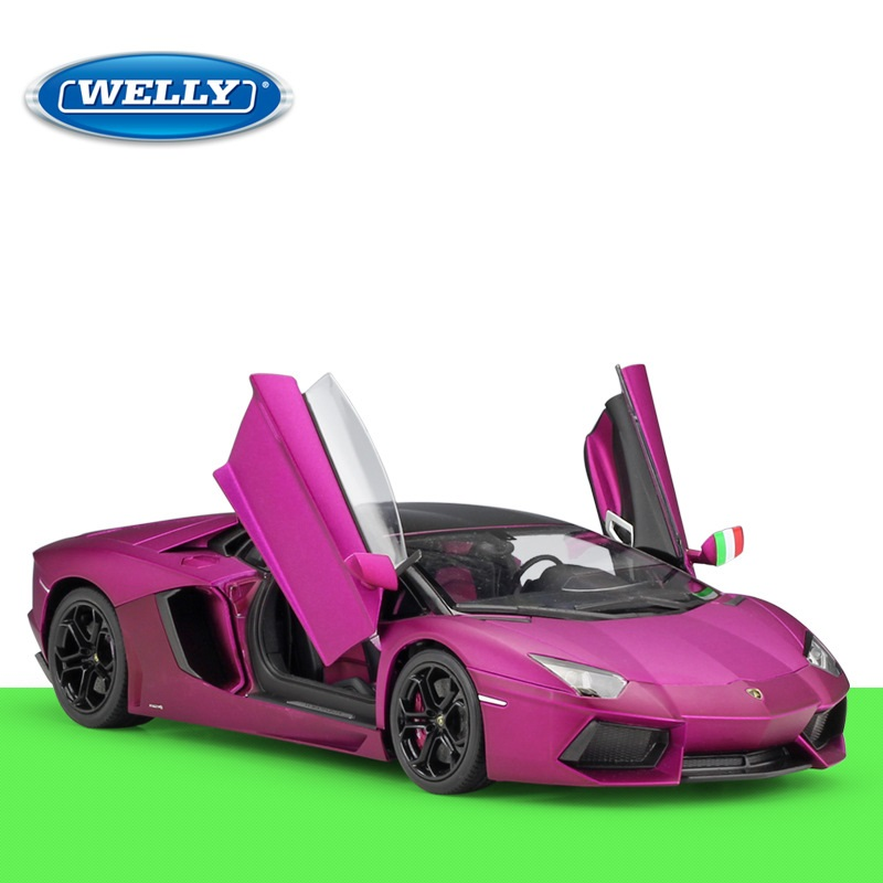 1:18 Welly Lamborghini Aventador LP700 4 mate púrpura Rosa Diecast Coche-in Troquelado y vehículos de juguete from Juguetes y pasatiempos    1