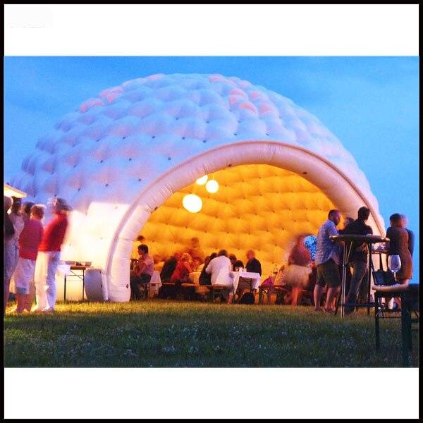 Diametro libero di trasporto 6 m colore bianco tenda a cupola gonfiabile per il partito