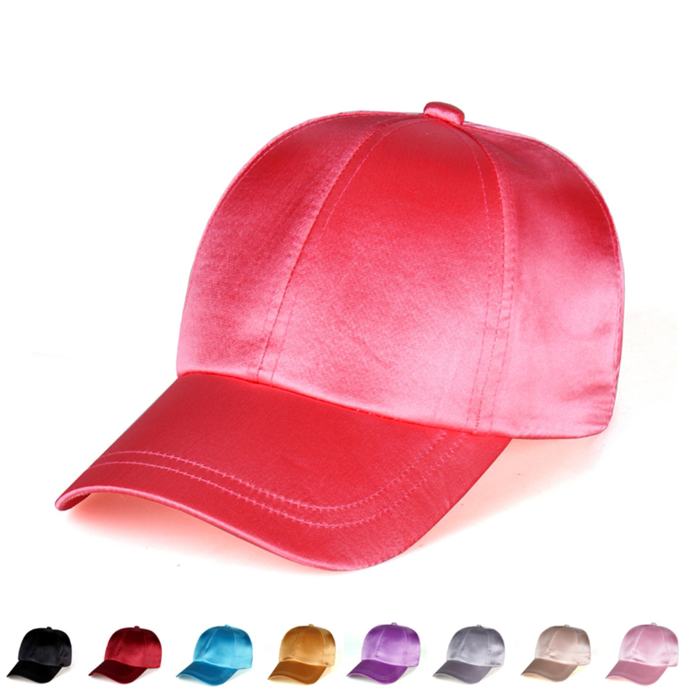 2016 New Arrival High quality Satin solid baseball cap Gorras Snapback Men cap fashion Polo Sport cap Hip Hop golf for  women 2016 new new embroidered hold onto your friends casquette polos baseball cap strapback black white pink for men women cap