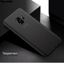 Samsung Galaxy S9 S9 artı S10E S10 artı 0.3mm Ultra ince mat plastik arka kapak kılıf Samsung s9 artı moda durumda