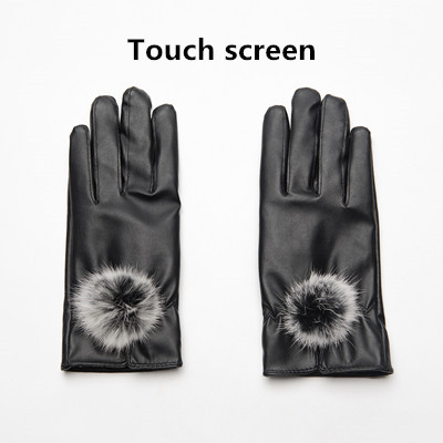 Gours PU Leather Gloves...