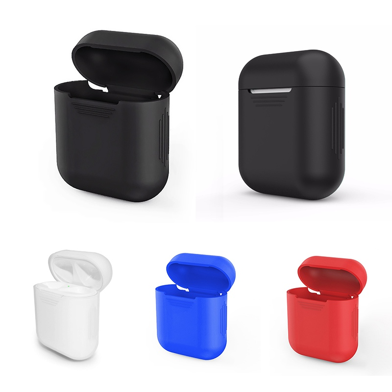Silicone Shock Proof Protector Case for Airpods Wireless Earphone Drop Pendant Hook Bluetooth Headset Case For Apple AirPods