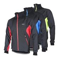 Ветрозащитный Для мужчин Велоспорт куртка гоночный велосипед Зимние флисовые Велоспорт Джерси теплые Велоспорт одежда Ciclismo Джерси 3 цвета
