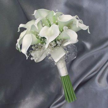 White calla lily  Artificial bride Bouquet Bridesmaid Wedding bouquet mariage ramo de novia flower