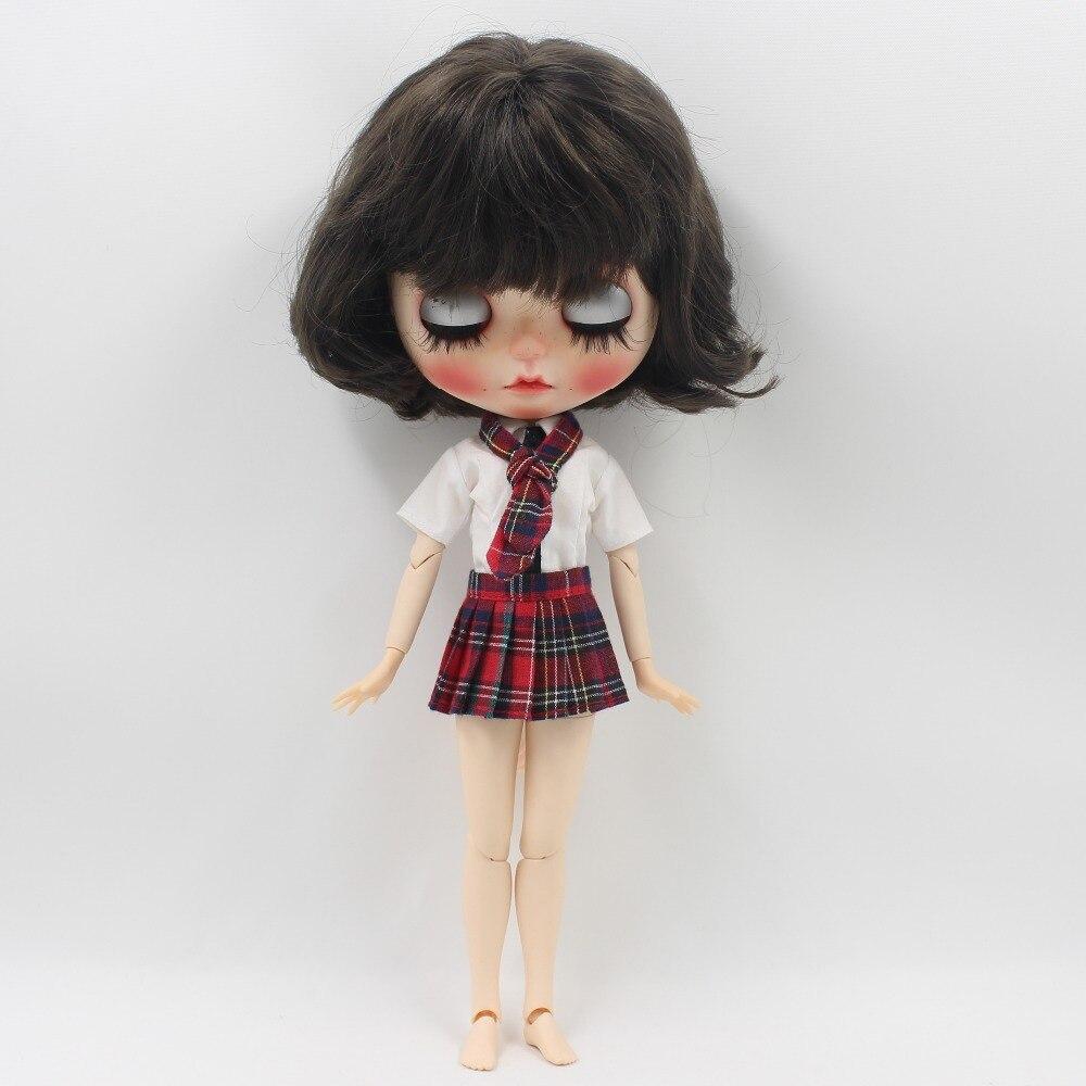 Neo Blythe Doll Red Plaid Uniform 3