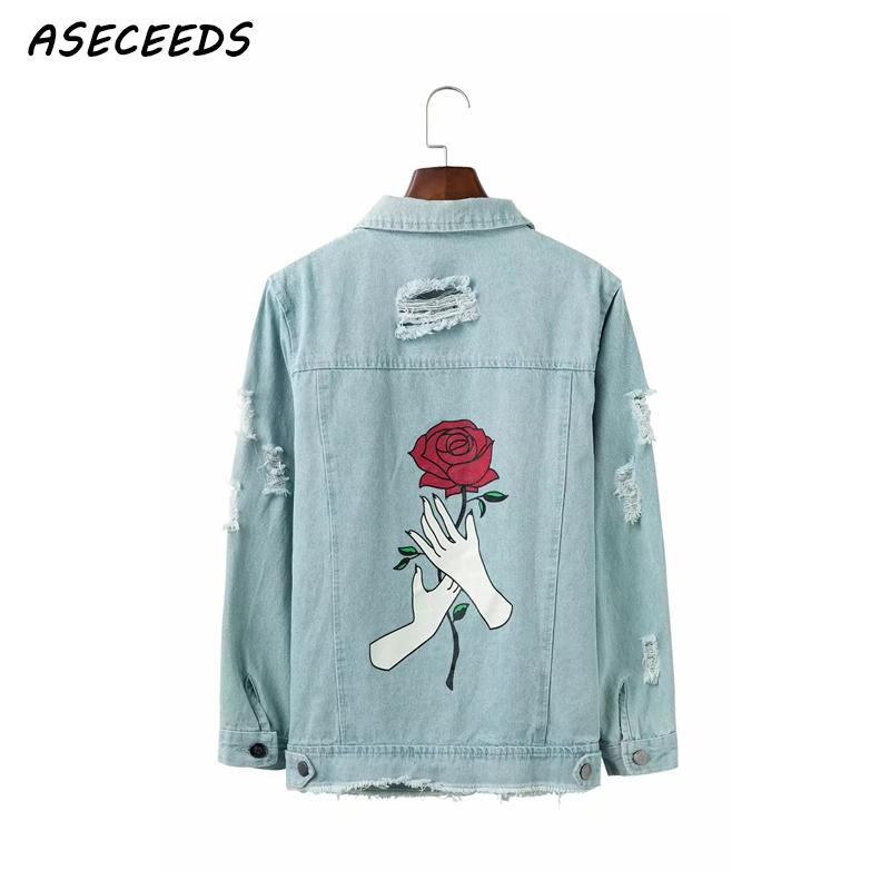 Autumn   Basic     jacket   autumn Appliques denim   jacket   women long sleeve casual jean   jacket   2018 winter women coats Korean streetwear