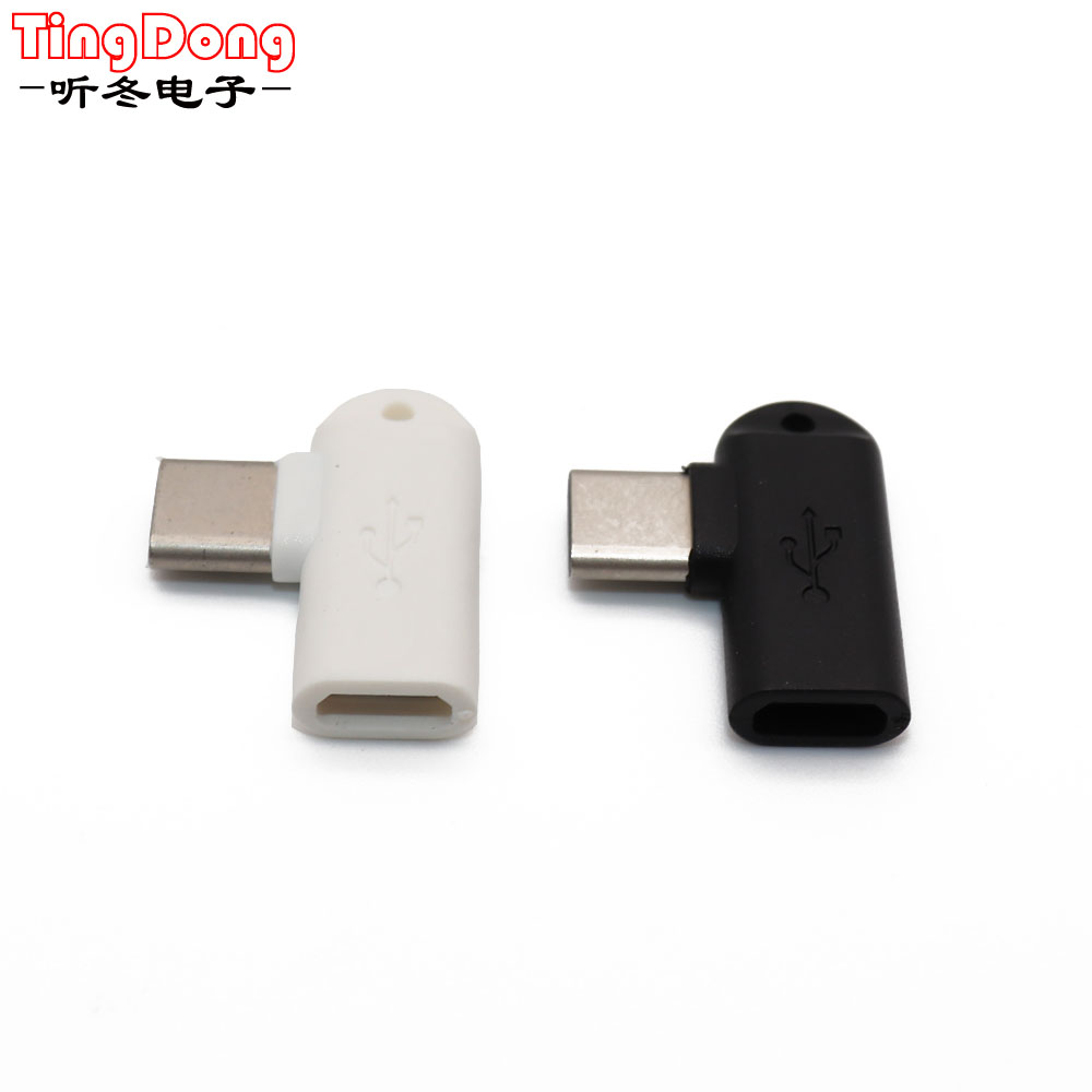 TingDong 1Pcs 90 Degree Type C Male To Micro USB Female Data Sync Charge Converter Adapter  For Letv For Xiaomi For Samsung