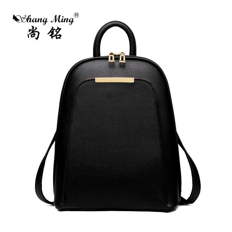 ShangMing 2017 Fashion Women s Backpack Fashion High quality Pu Girl Backpack School Casual All Match