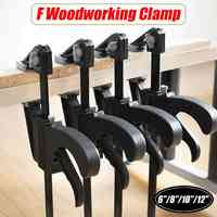 6/8/10/12 inch Black Quick Ratchet Release Speed Squeeze Wood Working Bar F Type Clamp Fixture Grip Woodworking Clip Kit