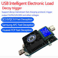 35w usb electronic load adjustable constant current aging resistor battery voltage capacity tester qualcomm qc2.0/3.0 voltmeter